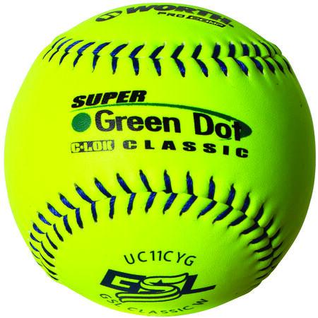 GSL 11 in Green Dot Softballs (UC11CYG)
