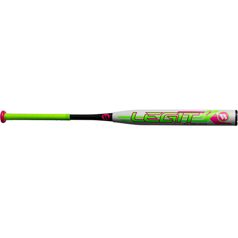 Front of a WMELON 2019 Legit Watermelon USSSA XL reload slow pitch softball bat