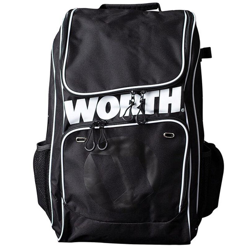 A black Worth softball backpack - WORBAG-BP-BLK