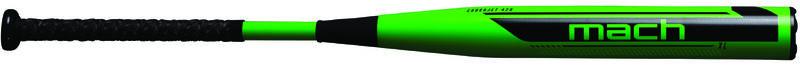 A green Worth Mach USA XL bat with a black Mach logo and black grip - SKU: WM21MA