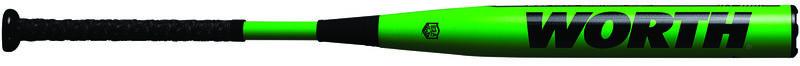 A green Mach Cobra Jet XL endload USA bat with a black Worth logo - SKU: WM21MA
