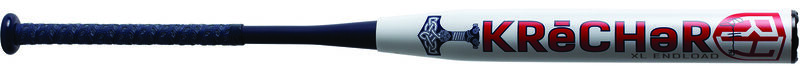 A white Worth Ryan Harvey USA bat with a red logo and navy handle - SKU: WRH21A