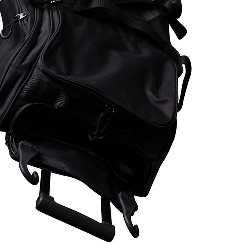 Top handle of a Worth wheeled bag - SKU: WORBAG-WB-BLK